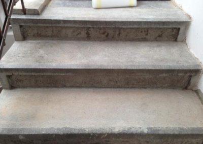Čištění kamenných schodů 08