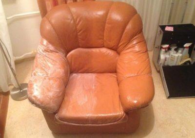 Čištění kožených sedaček 06