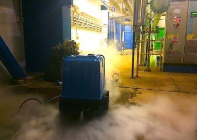 Parní čištění horkou parou 02